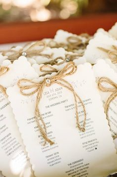 These twine-tied programs are simple + sweet.