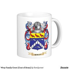 Wray Family Crest (Coat of Arms) Classic White Coffee Mug
