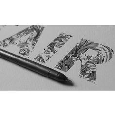919 отметок «Нравится», 8 комментариев — ♠SPIDER MONEY♣ (@oneiscool) в Instagram: «Classic pattern inside the letters ...AIR... #typography #illustration #calligraphy #logodesign…»