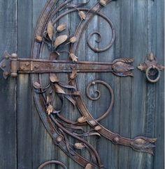 Unique wrought iron door