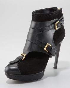 Alexander McQueen Ankle Boot with Removable Harness-the heel is sick on this! if only i could sport a 4inch heel...