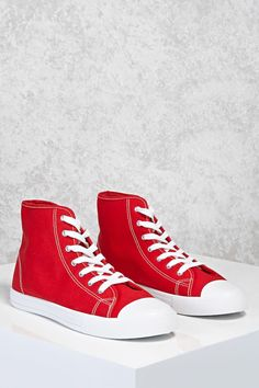 How To Get Affordable Fashion Clothing For Unbelievable Prices Cheap Fashion, Affordable Fashion, Fashion Shoes, Fashion Outfits, Affordable Maternity Clothes, Red High Top Sneakers, Red High Tops, Red Trainers, Forever 21 Shoes
