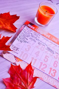 Free Autumn Pumpkin Spiced Blog Planner & Schedule Download Including free #PSL media background