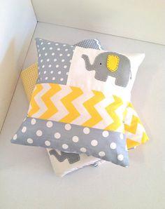 cute elephant patchwork pillow x