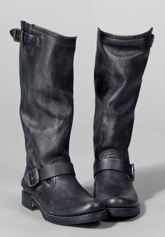 I have these and they are so comfortable!..best 300 spent ever! FRYE Boots    Veronica Slouch in Vint. Black.