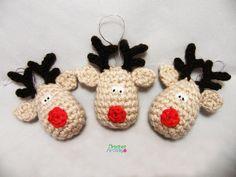 (4) Name: 'Crocheting : Reindeer Crochet Christmas Decoration