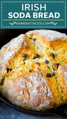 Irish Soda Bread Irish soda bread is a light and fluffy buttermilk bread studded with raisins. Quick Bread Recipes, Baking Recipes, Irish Soda Bread Recipes, Irish Soda Bread With Raisins Recipe, Traditional Irish Soda Bread, Traditional Irish Recipes, Buttermilk Bread, Recipes With Buttermilk, Irish Bread