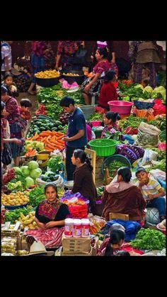 Mercado en Guatemala