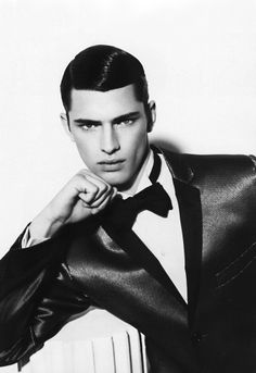 Sean O'Pry.  Because shiny hair is also an accessory.