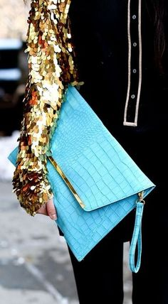 Sequins and Tiffany blue.