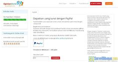Bukti Online Survey OpinionWorld Indonesia Membayar Dengan PayPal #CashSurvey