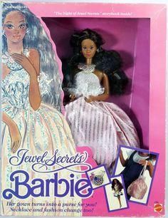 Jewel Secrets Black Barbie Doll #1756 New NRFB 1986 Mattel, Inc. 3+ #MattelInc #Dolls