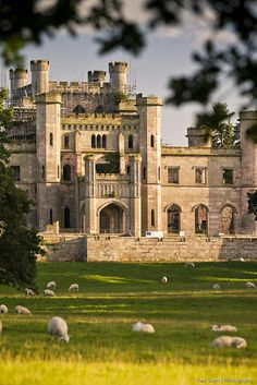 Lowther Castle, 17th century Country House in Cumbria, England.