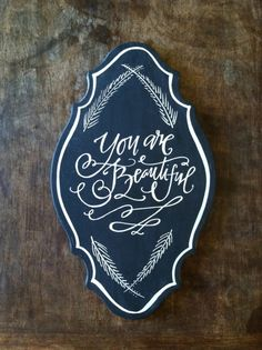lindsay letters « you are beautiful chalkboard Fancy Letters, Love Letters, Pretty Letters, Chalkboard Writing, Chalkboard Lettering, Chalkboard Designs, Lindsay Letters, Gallery Of Modern Art, Typography Inspiration