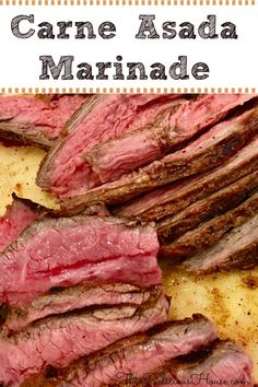 Quick and easy Carne Asada Marinade Recipe that makes the most flavorful and tender street tacos. Don't miss this authentic recipe for and have carne asada street tacos for dinner tonight! Barbecue Recipes, Meat Recipes, Mexican Food Recipes, Cooking Recipes, Grilling Recipes, Entree Recipes, Crockpot Recipes, Dinner Recipes, Steaks