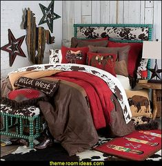 Western Bedding Sets for a Whole New Room Cowboy Bedroom, Western Bedroom Decor, Western Rooms, Western Theme, Western Style, Western Wall, Horse Themed Bedrooms, Bedroom Themes, Bedroom Ideas