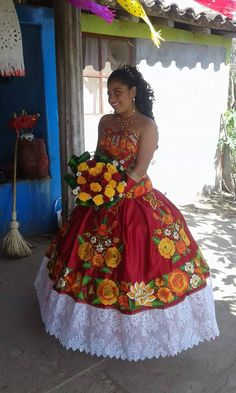 pin by girl quinceanera on mexican party dresses Mexican Costume, Mexican Outfit, Mexican Dresses, Mexican Party, Ball Gown Dresses, 15 Dresses, Flower Girl Dresses, Wedding Dresses, Gowns