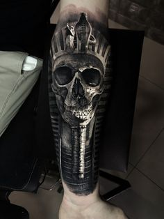 Find your next tattoo Egyptian Tattoo Sleeve, Best Sleeve Tattoos, Tattoo Sleeve Designs, Leg Tattoos, Arm Band Tattoo, Body Art Tattoos, Tattoos For Guys, Skull Rose Tattoos, Black Ink Tattoos