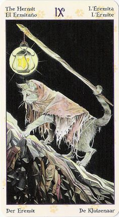 The Hermit: Tarot of Pagan Cats