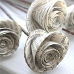 paper folded into roses