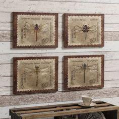 Dragonfly Burlap Canvas (set of Burlap Art, Burlap Canvas, Art Prints Uk, Wall Mounted Mirror, Home Wall Art, Clock, The Incredibles, Retro, Gallery