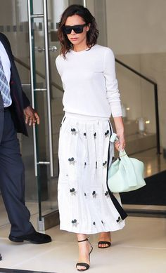 Victoria Beckham in White Outfit