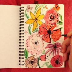 #floral #art Floral Doodle, Doodles, Watercolor, Drawings, Instagram Posts, Artwork, Painting, Pen And Wash, Watercolor Painting
