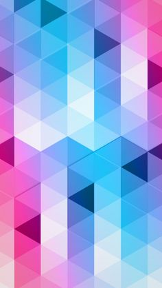 Colorful Triangles #iPhone #5s #Wallpaper