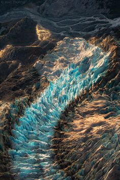 Sunset light shines on a part of Herbert Glacier..., Alasuka, by Mac Danzig