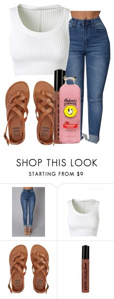 """""""lit"""" by gvlden-bvbx ❤ liked on Polyvore featuring Alaïa, Billabong and NYX"""