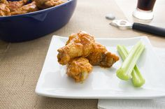 skinny hot wings with celery