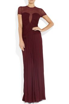Burberry ProrsumBelted crinkled silk-crepe gown..................love!!!                                BDR