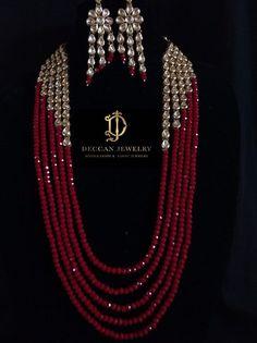 Ella kundan necklace with earrings , indian jewellery Indian Jewelry Earrings, Fancy Jewellery, Bead Jewellery, Beaded Jewelry, Beaded Necklace, Layered Necklace, Necklaces, Bracelets, Pearl Necklace Designs