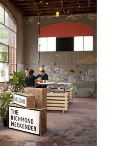 rustic and industrial - love!!