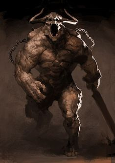 Brute Demons - Absolutely the worst to encounter, they are only in groups of and are in a berserker rage always Dark Fantasy Art, Fantasy Demon, Fantasy Beasts, Fantasy Monster, Monster Art, Fantasy Warrior, Creature Feature, Creature Design, Fantasy Creatures