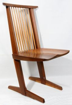 GEORGE NAKASHIMA WALNUT CONOID CHAIR - have a set of these - extraordinarily comfortable (Anthea)