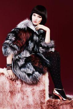 Fendi Multi-Color Fox Fur Coat