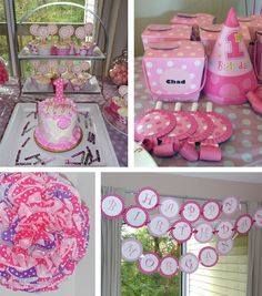 pink polka dot party. There's also a link on here for DIY sidewalk chalk! Great party favor