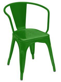 Fauteuil A56 empilable / Acier - Couleur brillante - Intérieur Vert - Tolix - Décoration et mobilier design avec Made in Design  http://www.homelisty.com/vente-flash-selection-mobilier-madeindesign/