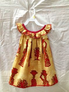 Ankara Styles For Kids, African Dresses For Kids, Latest African Fashion Dresses, Dresses Kids Girl, African Print Fashion, Kids Outfits, Baby Dress Design, Baby Girl Dress Patterns, African Attire