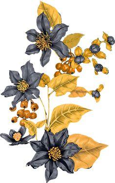 Flowers Illustration, Illustration Art Drawing, Plant Illustration, Botanical Illustration, Design Floral, Design Art, Floral Bedspread, Baroque Painting, Design Digital