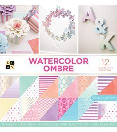 "American Crafts DCWV 12/"" x 12/"" Flipside Cardstock Stack Solid Color Dual Design"