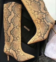 Snake Skin, Cowboy Boots, Booty, Ankle, Shoes, Fashion, Moda, Swag, Zapatos
