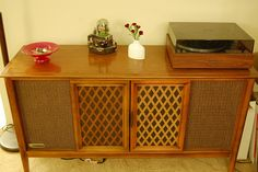 Living room- close in color to our record player cabinet