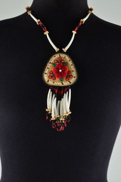 Beaded Tufted Necklace, Corinna M Evans, Athabascan
