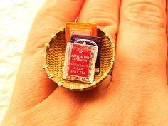 Kawaii Food Ring Basket of  Tea Ring Miniature by SouZouCreations, $12.50