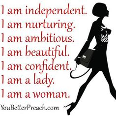 I am ......... for confidence in women. ⊱✿⊰