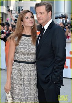 colin Firth and wife at The Railway Man...