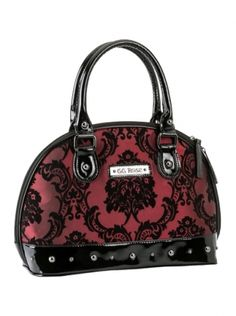 68533301c4a9 Rock Rebel GG Rose Mini Madame Purse in Merlot Damask. Stefani Elstins ·  Purses!!
