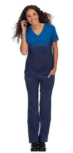 Koi Lite Reform Top Royal Blue/Navy Koi Scrubs, Nurse Life, Dobby, Fashion Forward, Royal Blue, Jumpsuit, V Neck, Navy, Fabric